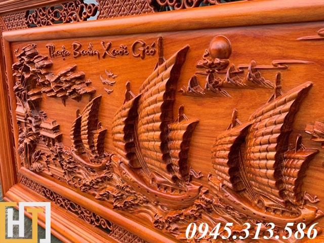 Tranh gỗ thuận buồm xuôi gió dài 1m55 9