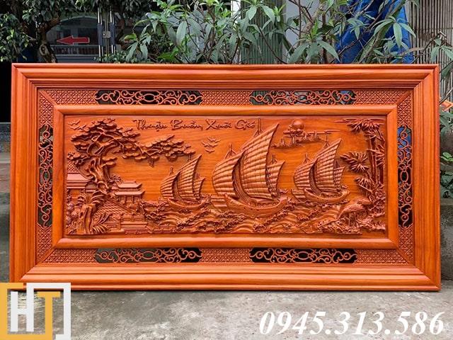 Tranh gỗ thuận buồm xuôi gió dài 1m55 rộng 79cm gỗ dày 4cm