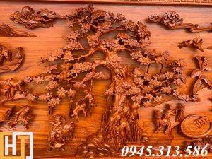 cây đa bức tranh gỗ đồng quê khổ lớn