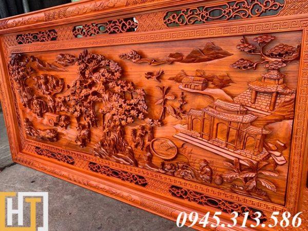 mặt chụp nghiêng bức tranh gỗ đồng quê khổ lớn